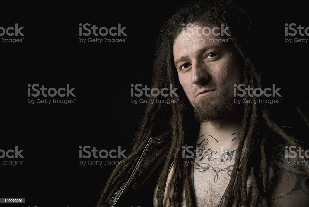 Rastaman Portrait stock photo