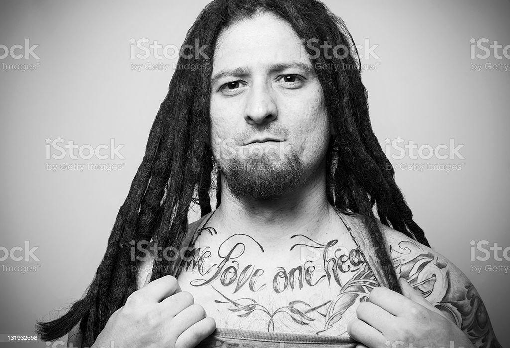 Rastaman Tattoo stock photo