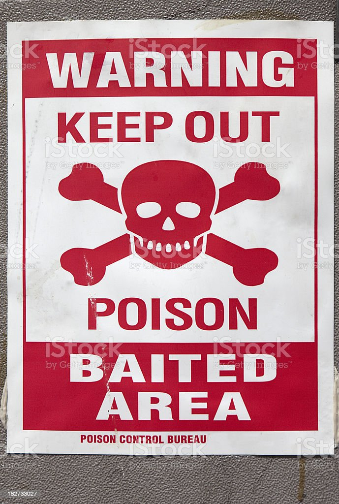 Rat poison sign royalty-free stock photo