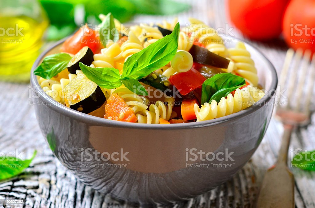 Ratatouille pasta. stock photo