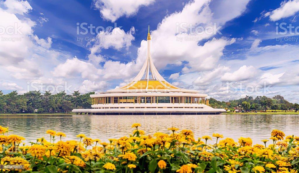 Ratchamangkhala Pavilion of Suan Luang Rama IX stock photo