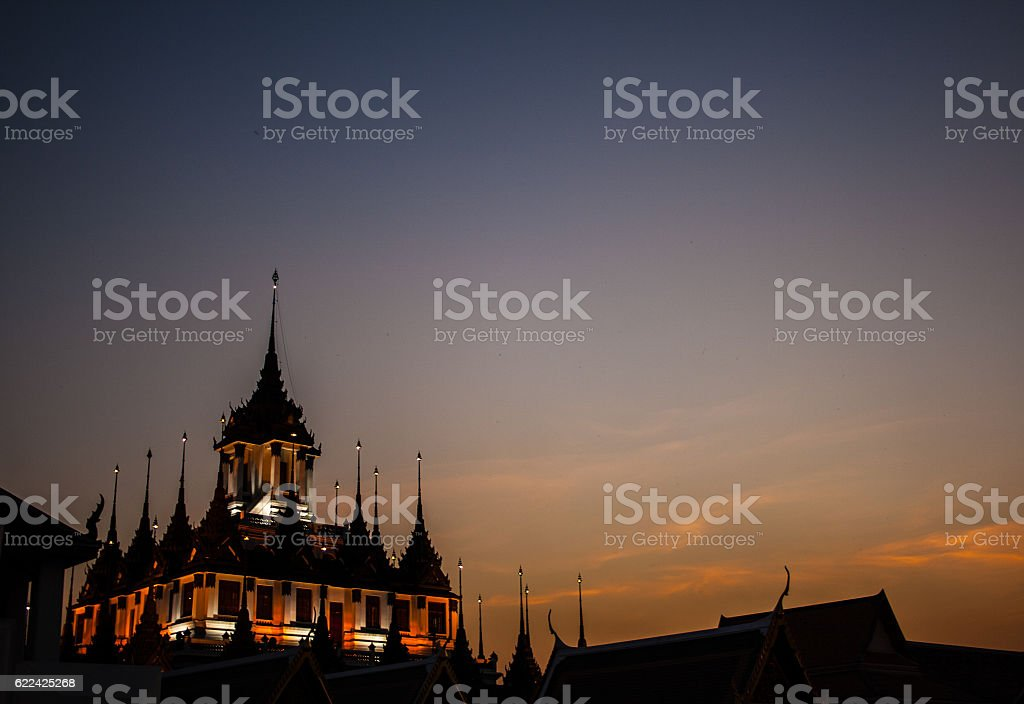 Ratchanadda temple - Bangkok stock photo