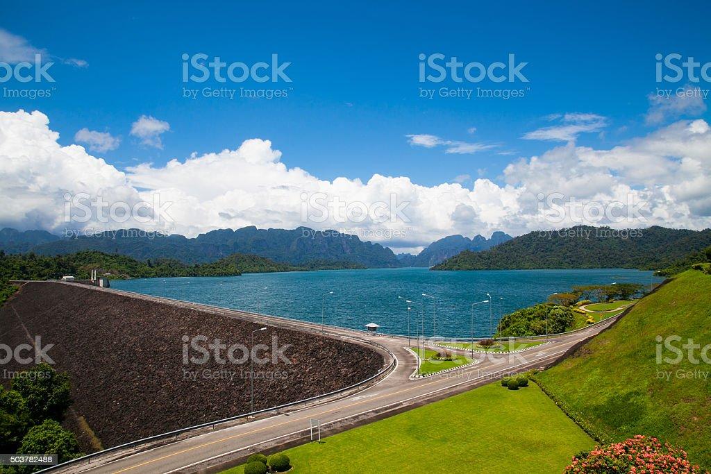 Ratchaprapha Dam stock photo