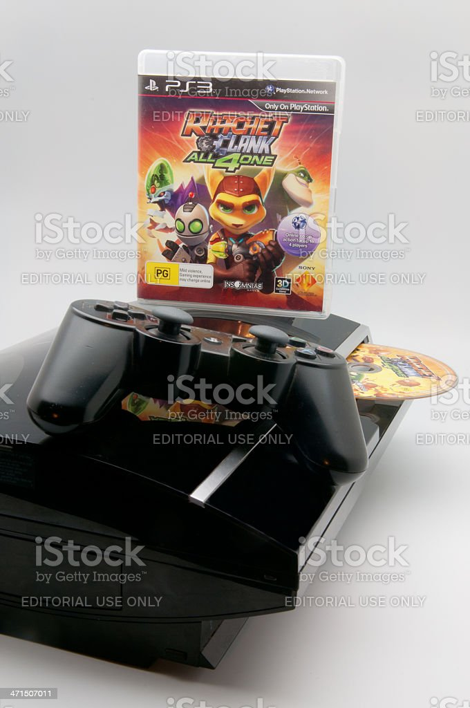 Ratchet & Clank All 4 One PS3 game stock photo