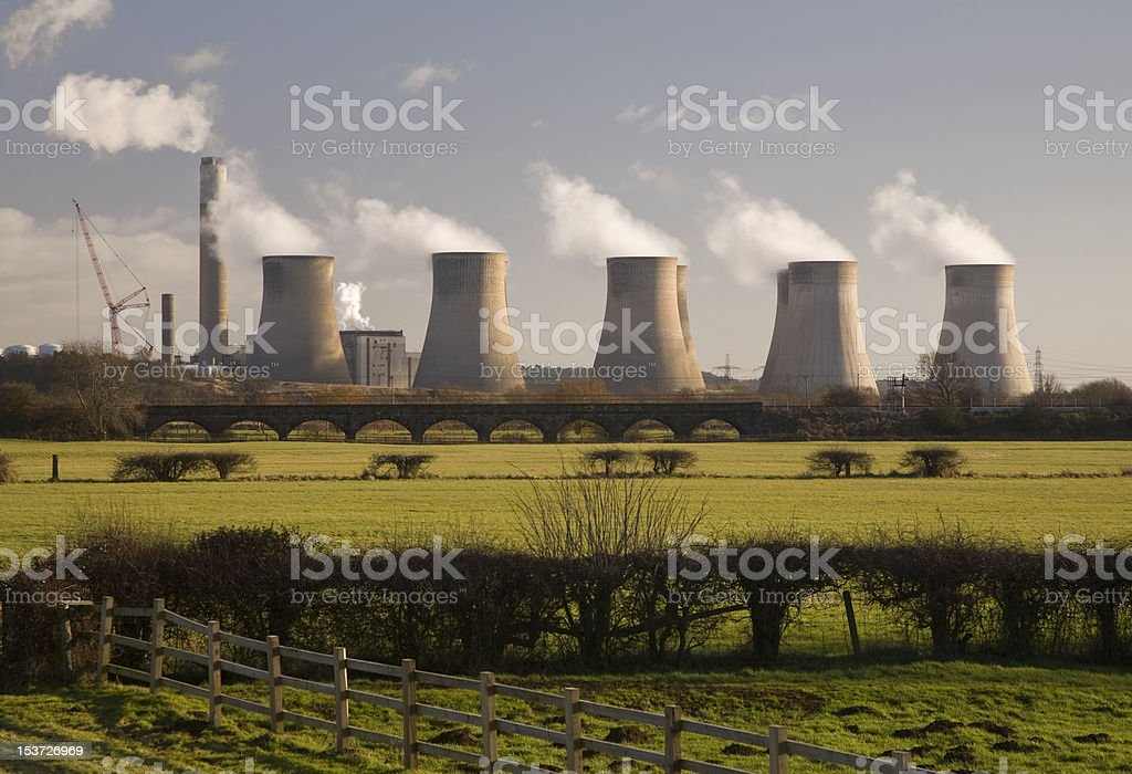 Ratcliffe-On-Soar Power Station, Nottingham, England stock photo