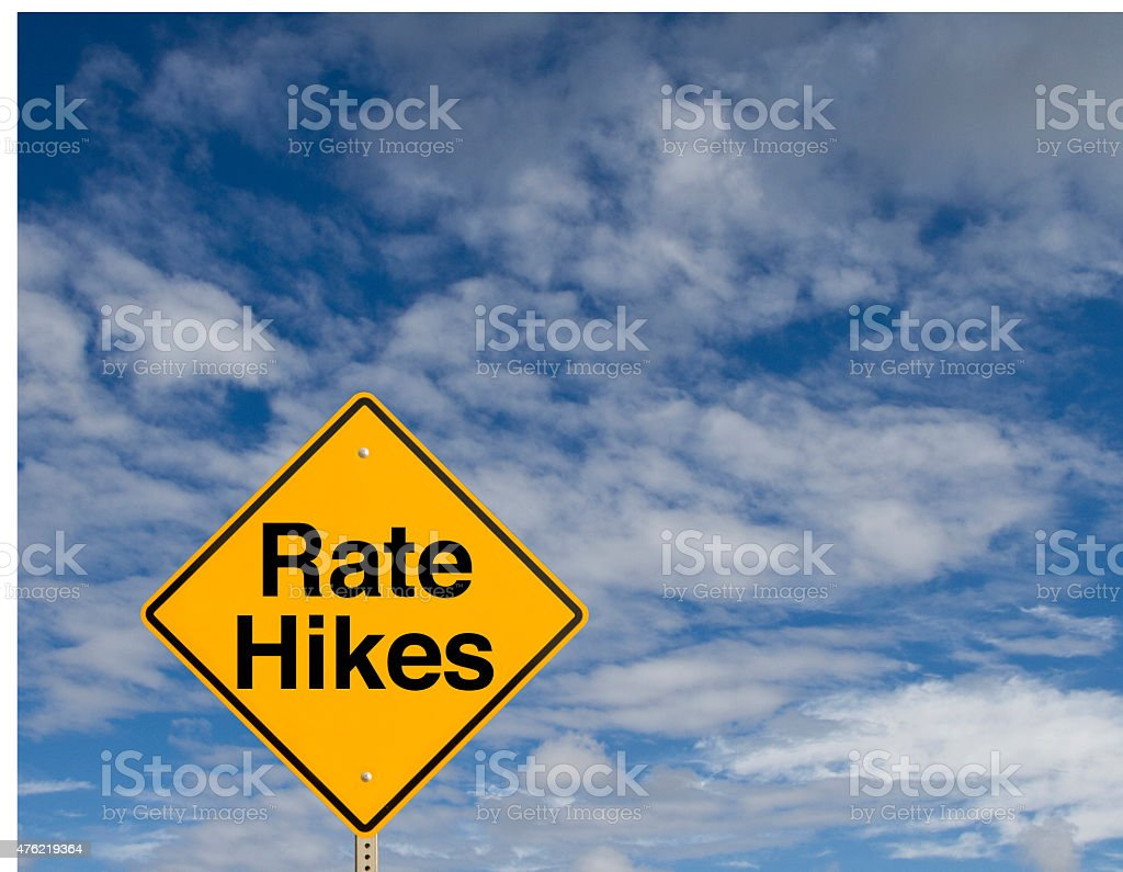 Rate Hikes stock photo