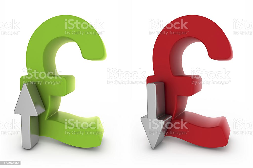 rate of exchange - pound royalty-free stock photo