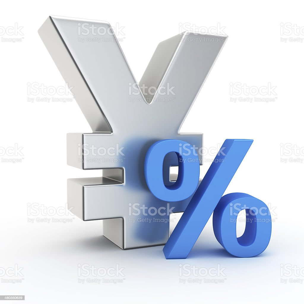 Rate of yen stock photo