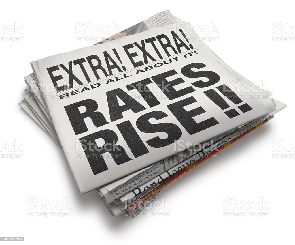 Rates Rise stock photo