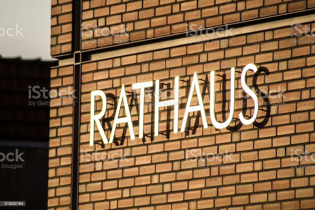 Rathaus / City council stock photo