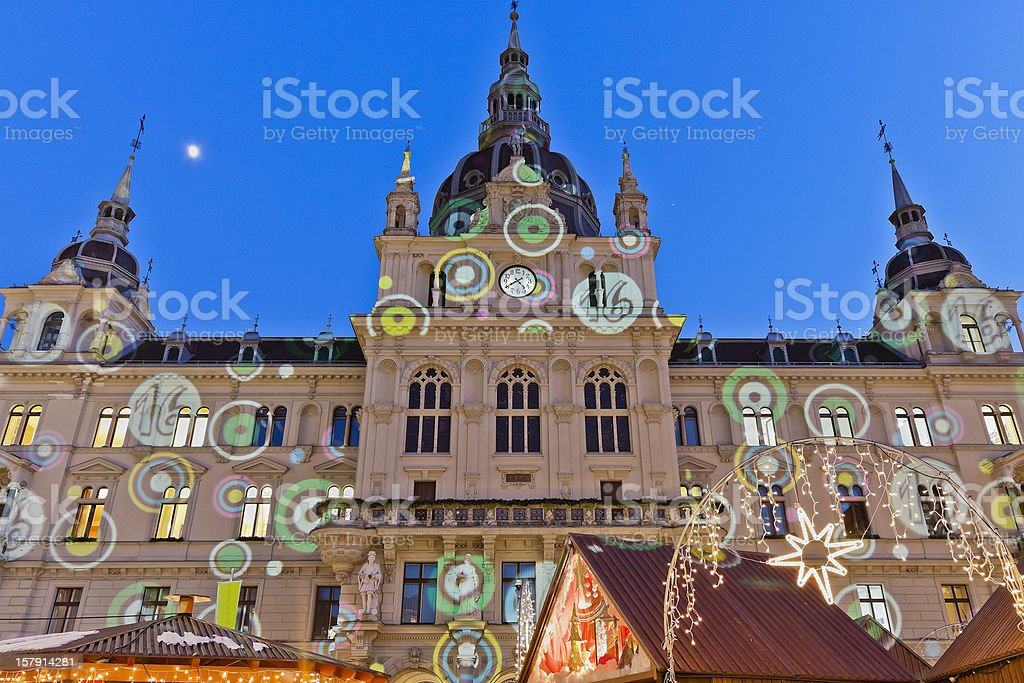 Rathaus of Graz stock photo