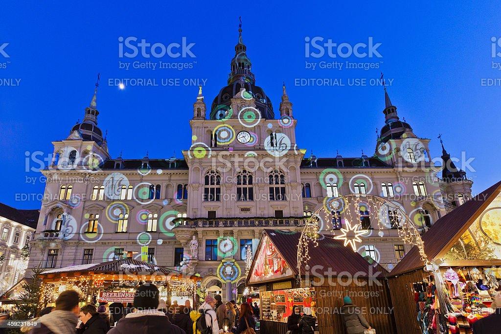 Rathaus of Graz royalty-free stock photo