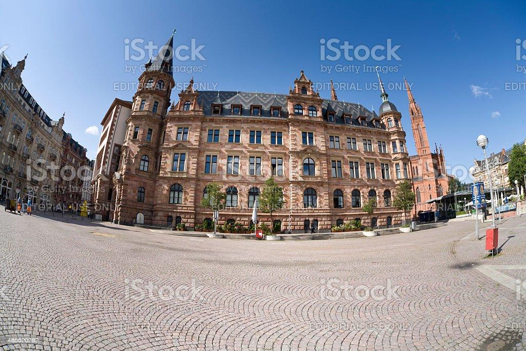 Rathaus Wiesbaden, Germany stock photo