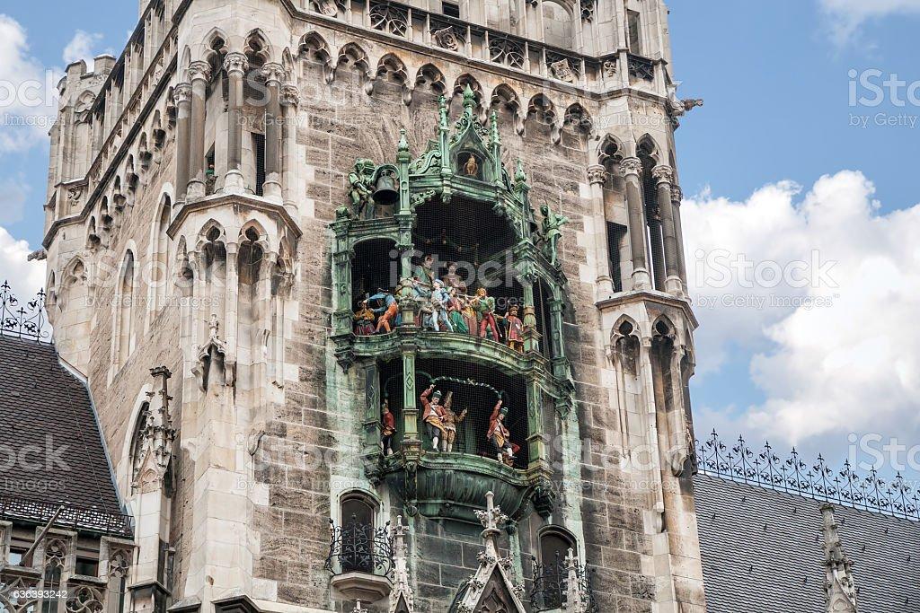 Rathaus-Glockenspiel of New Town Hall, Munich stock photo