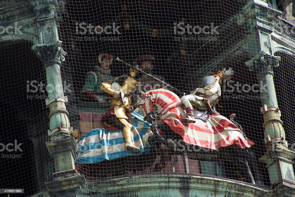Rathaus-Glockenspiel stock photo