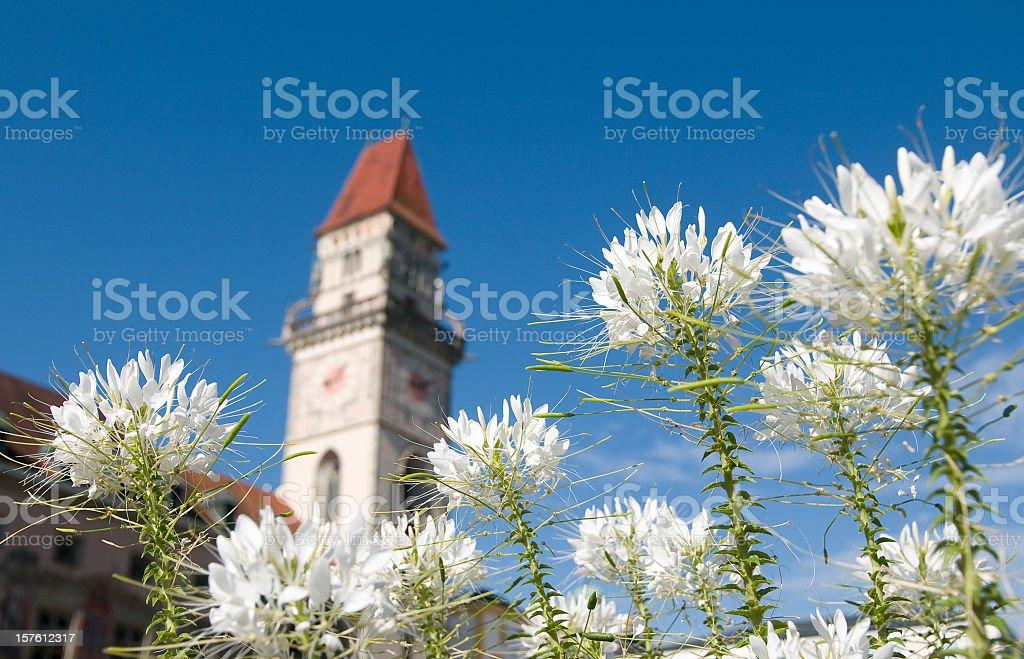 Rathausturm; Passau in Lower Bavaria, Germany stock photo