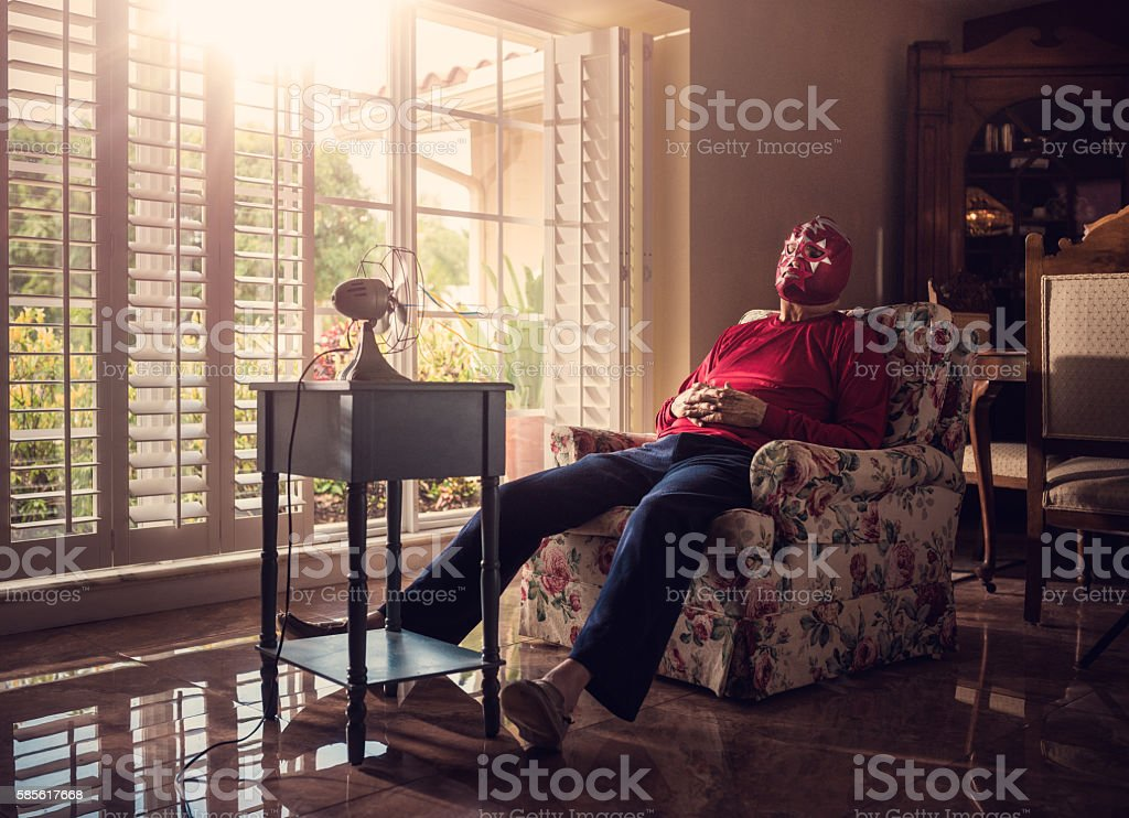 I rather be home chilling stock photo