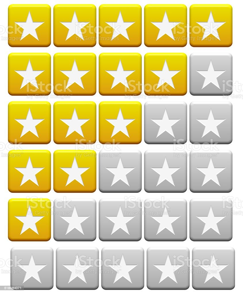 Rating Buttons stock photo