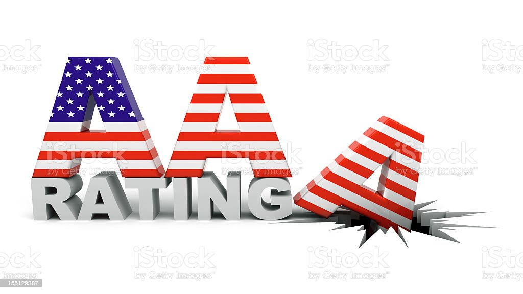 US AA Rating Concept stock photo