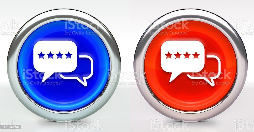 Rating Icon on Button with Metallic Rim stock photo