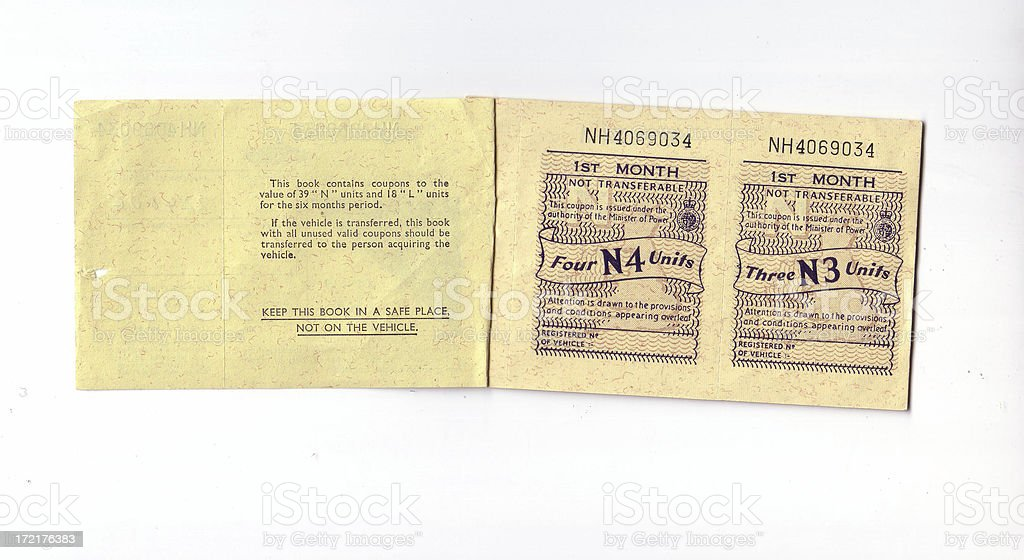Ration Book inner stock photo