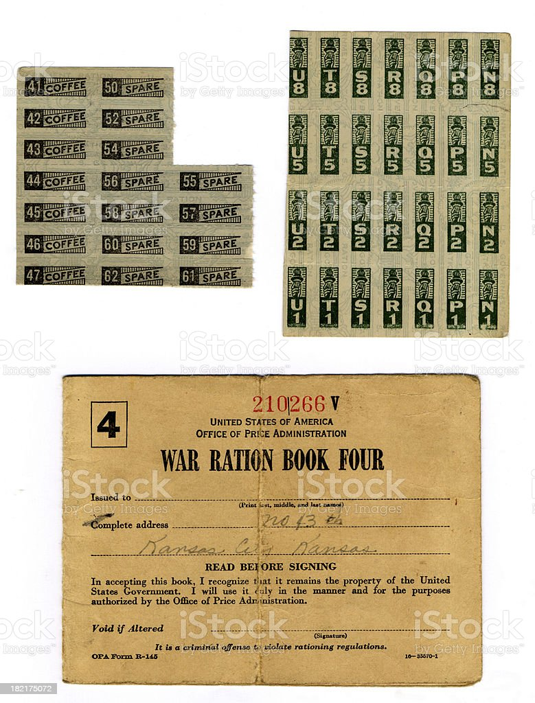 WW Ration Book (XL) stock photo