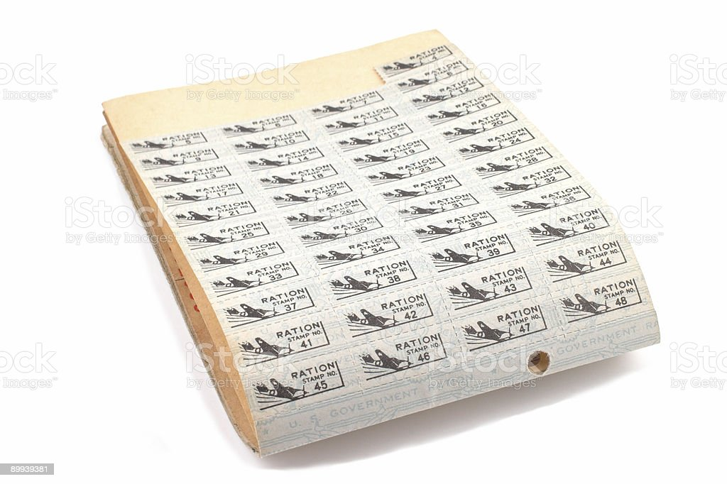 Ration Book stock photo