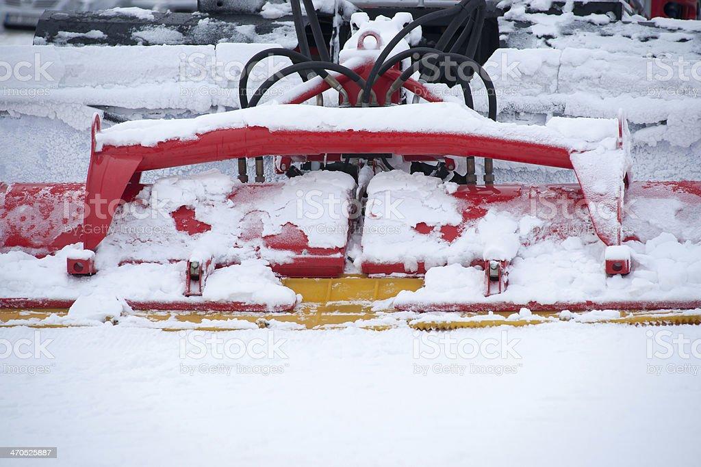 Ratrack plow stock photo