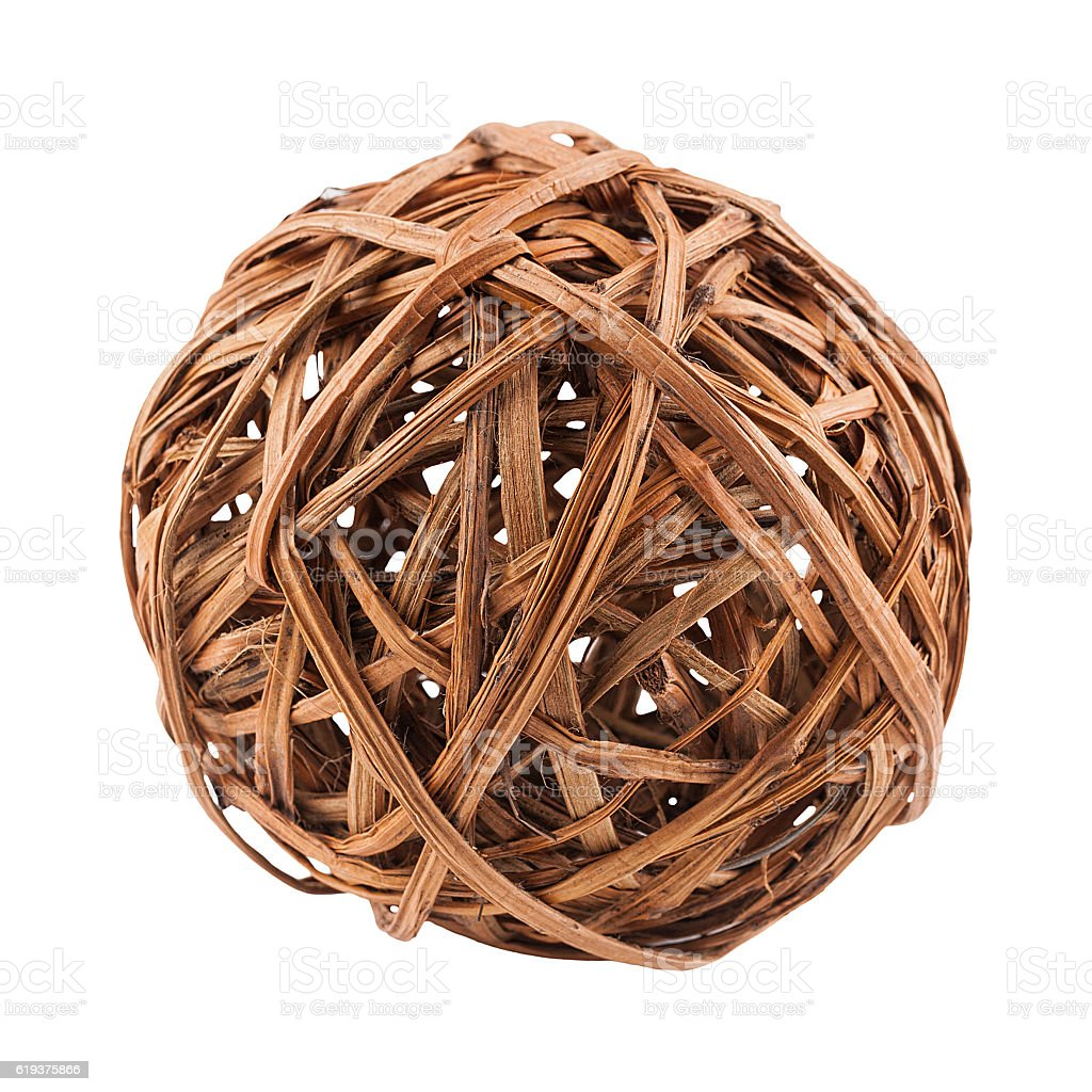 Rattan ball isolated stock photo