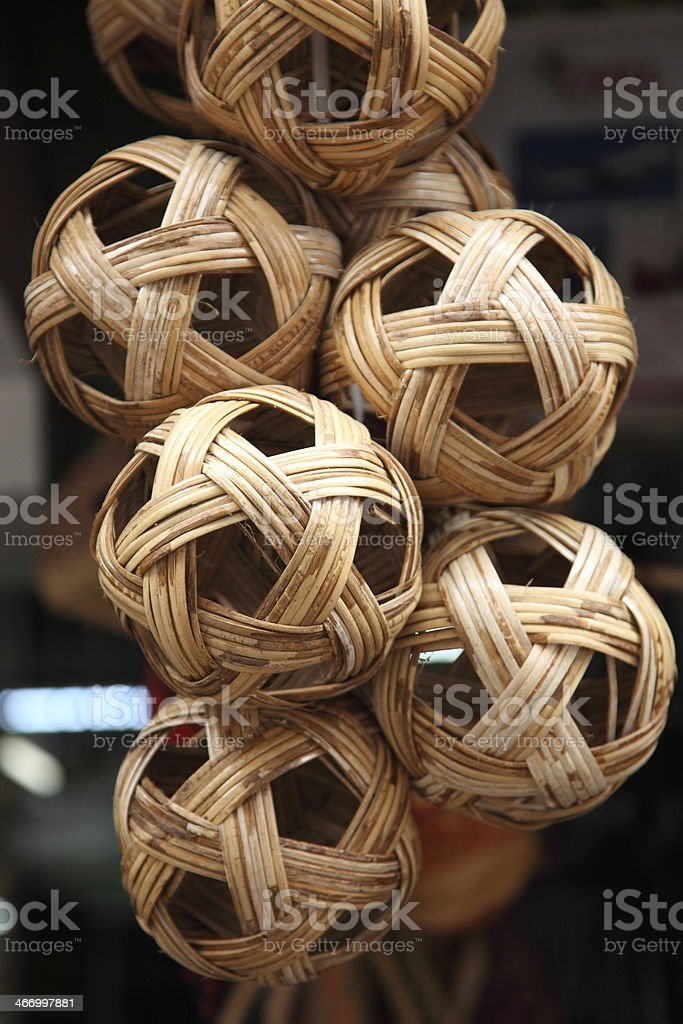 Rattan ball the southeast asia favorite sports royalty-free stock photo