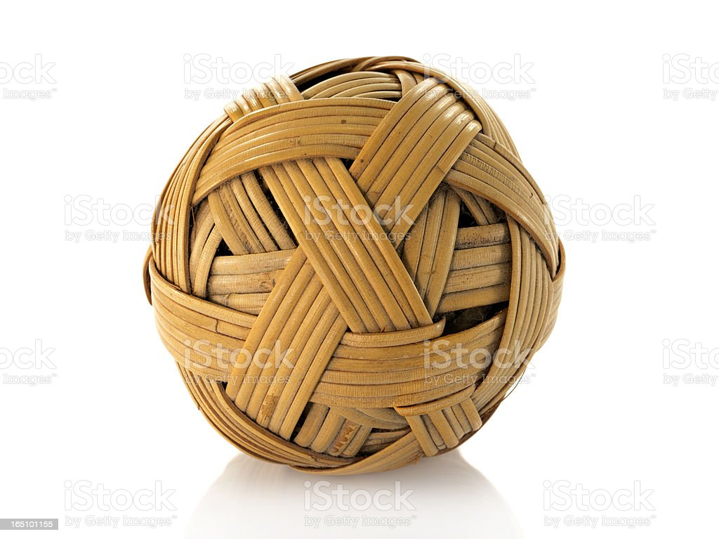 rattan ball used in asia sport royalty-free stock photo