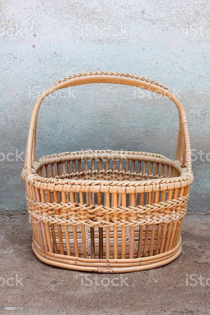 Rattan basket closeup royalty-free stock photo