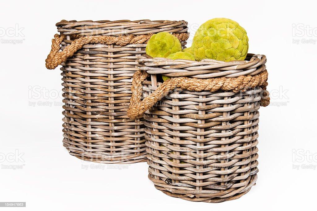 Rattan Baskets royalty-free stock photo