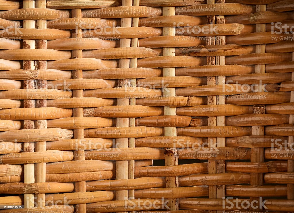 Rattan woven texture background. stock photo