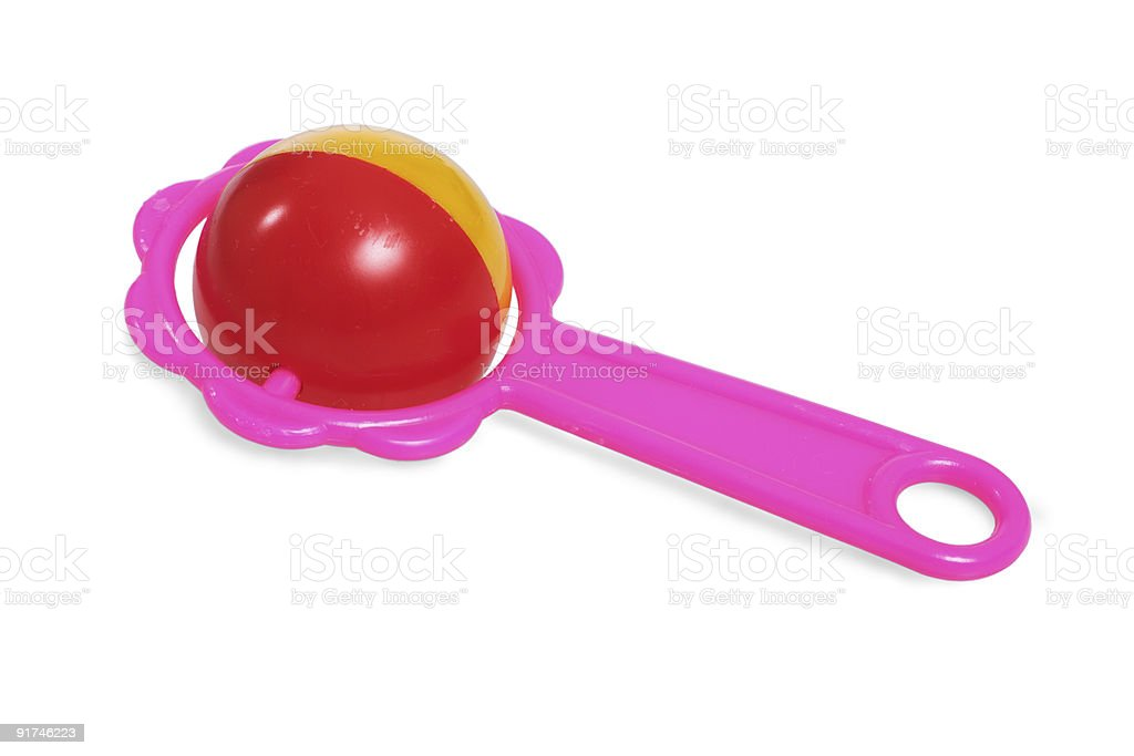 Rattle for baby stock photo