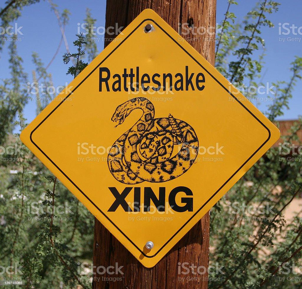 Rattlesnake Xing royalty-free stock photo