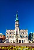Ratusz or Town Hall on Rynek Wielki Square in Zamosc