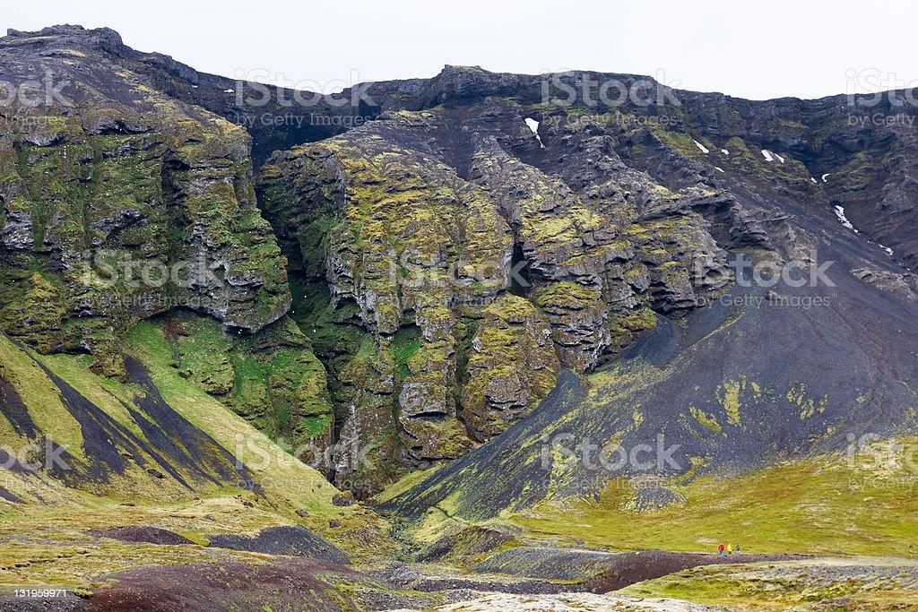 Rauðfeldargjá Chasm, Iceland stock photo