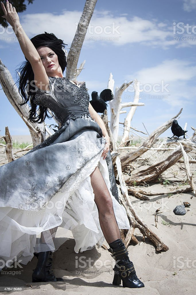 Raven godess royalty-free stock photo