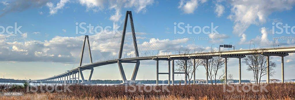 Ravenel Bridge Pan stock photo