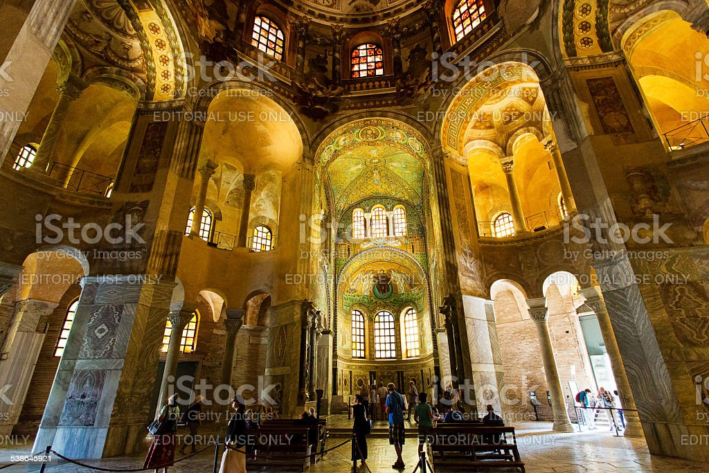 Ravenna Basilica of St Vitale stock photo