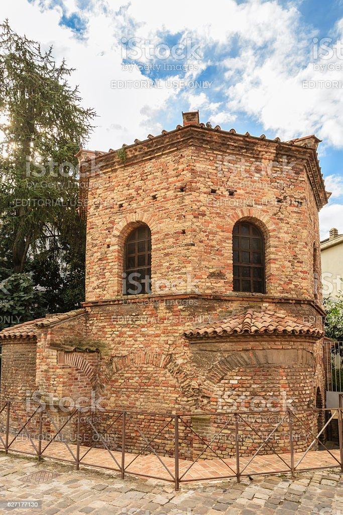Ravenna, Battistero degli Ariani - Italy stock photo