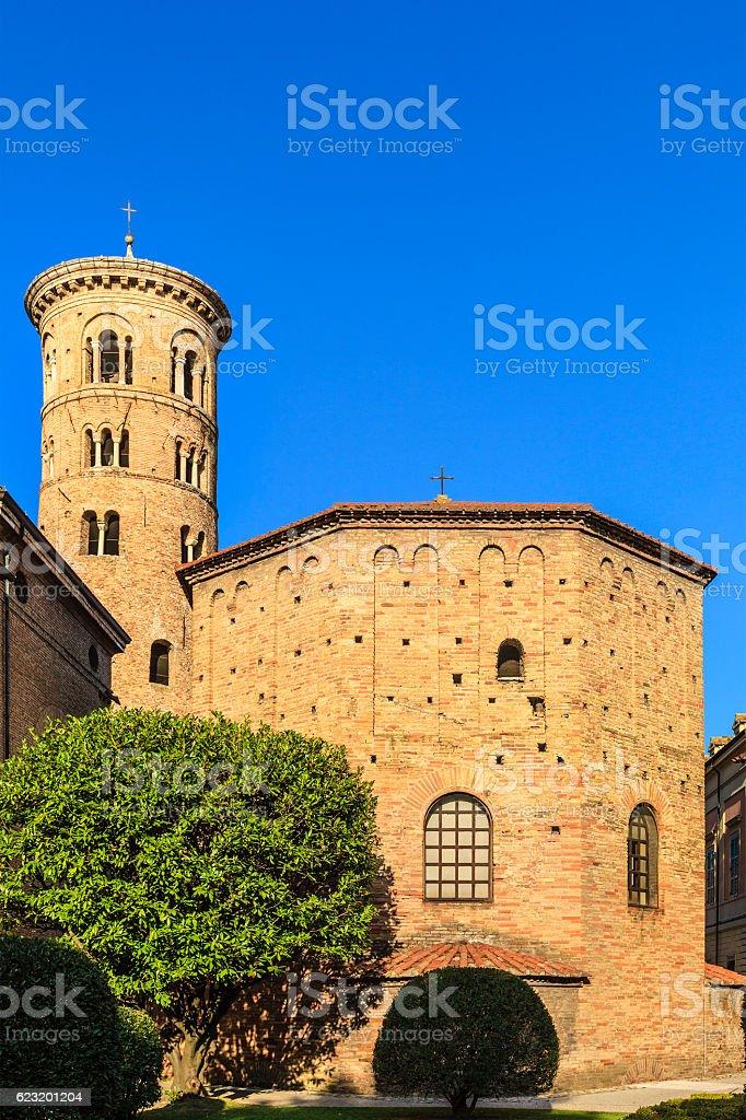 Ravenna, Battistero Neoniano - Italy stock photo
