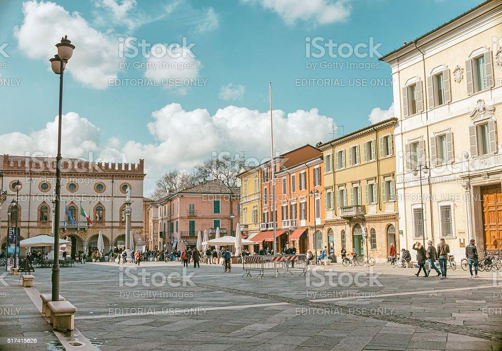 Ravenna, Piazza del Popolo stock photo