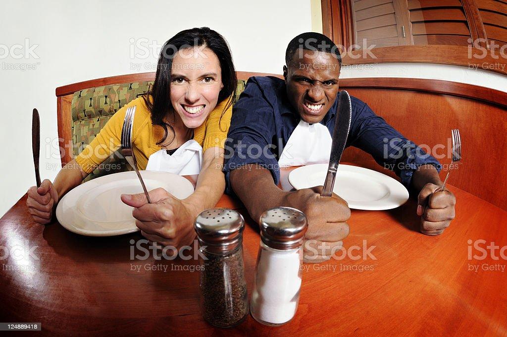 Ravenous  Couple  Ready To Eat! stock photo