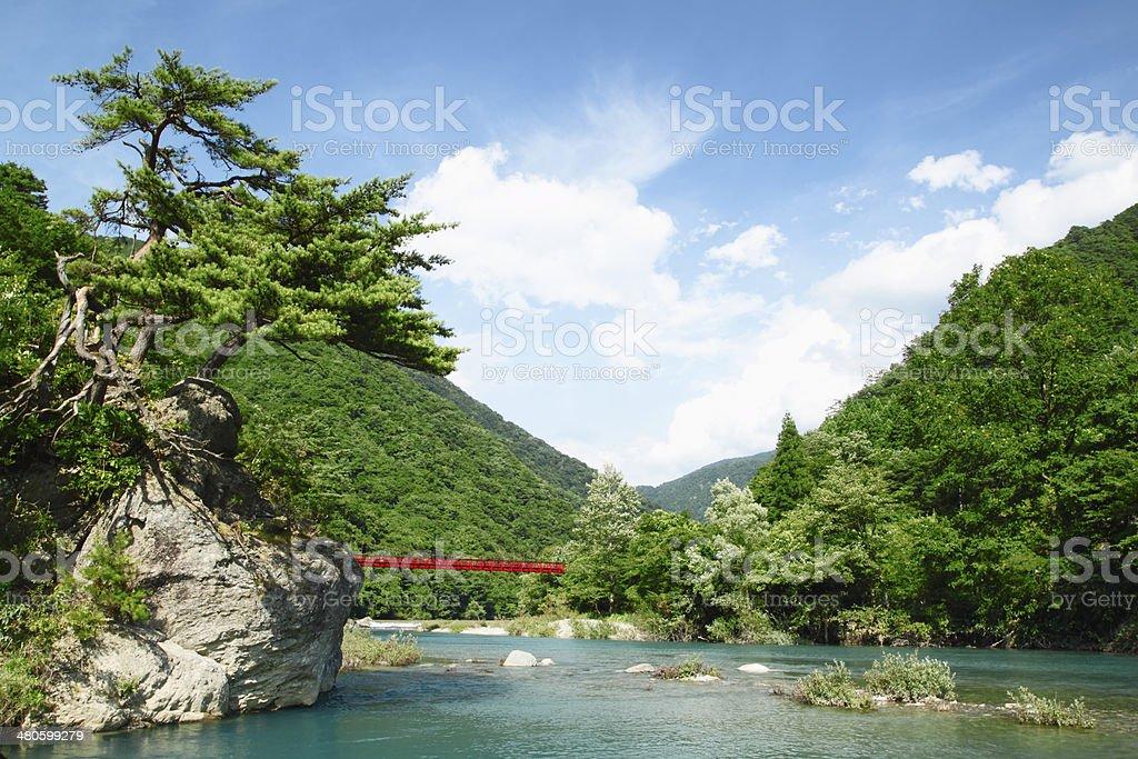 ravine  Dakikaeri in Akita stock photo