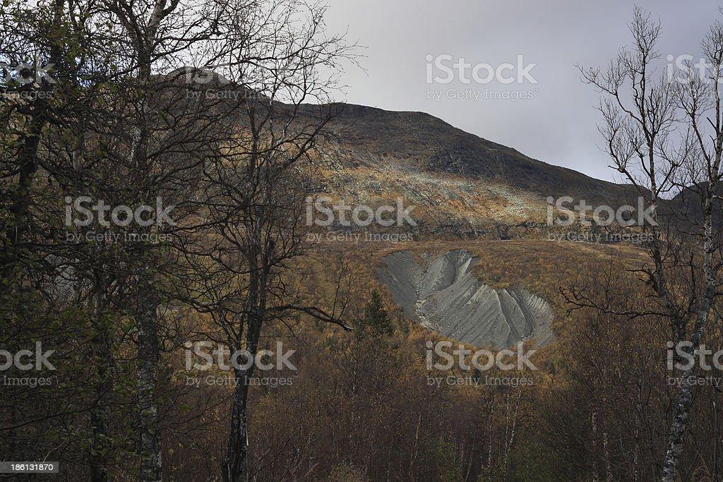 Ravine om the mountain stock photo