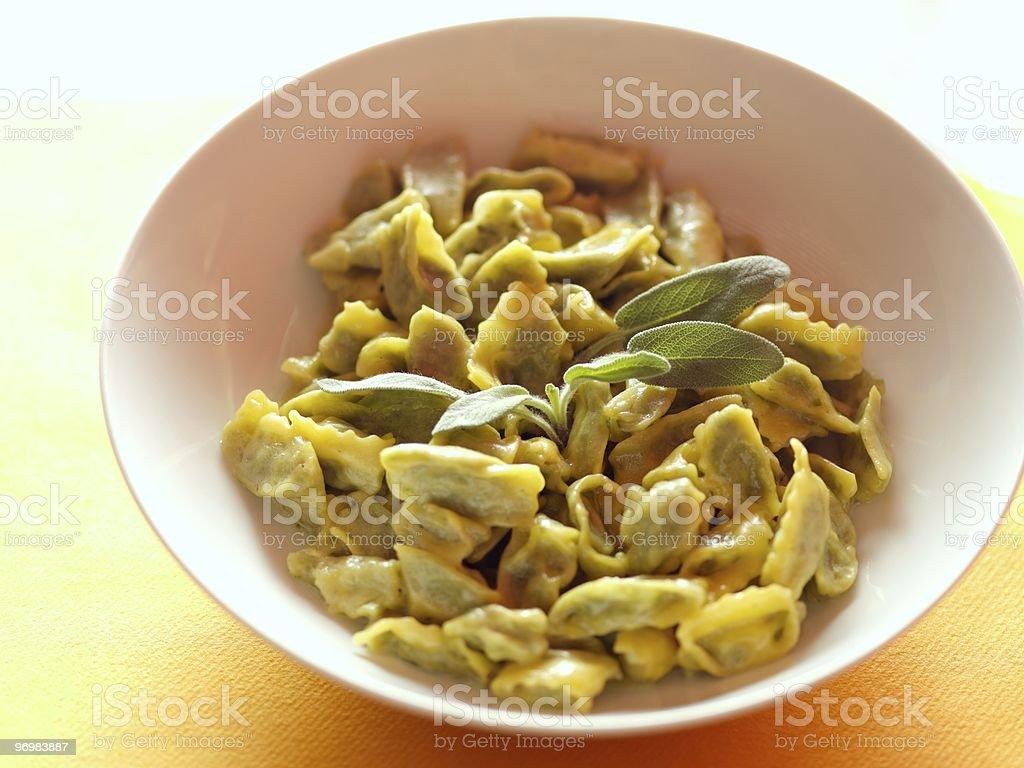 ravioli and sage royalty-free stock photo
