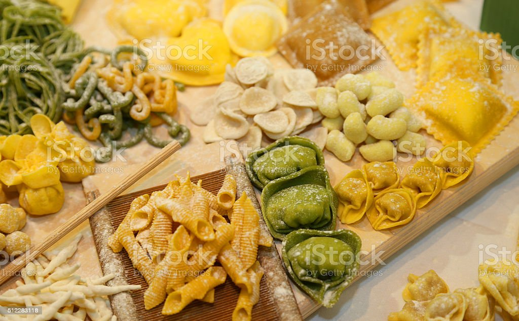 ravioli and tortellini homemade with eggs and flour  and water stock photo