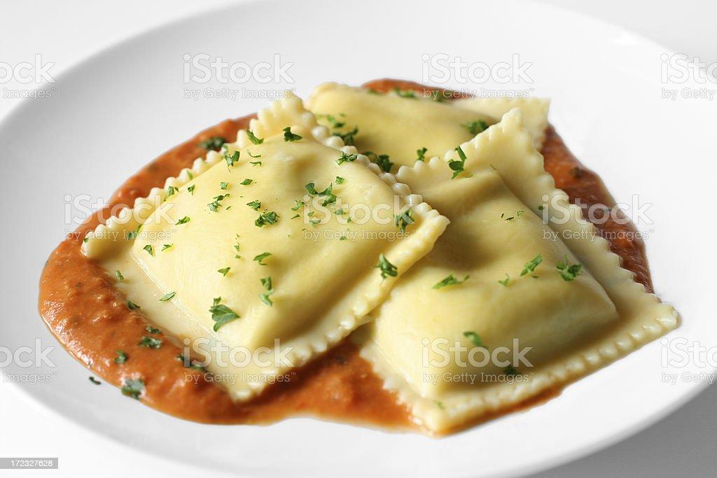 Ravioli Appetizer stock photo